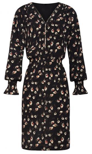 Smashed Lemon Dámske šaty 19556 Black M dámské