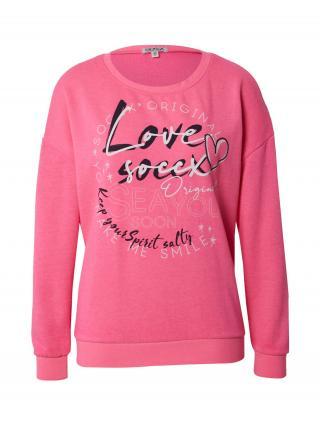 Soccx Mikina  ružová / zmiešané farby dámské L