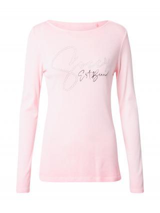 Soccx Tričko  ružová / strieborná / čierna dámské L