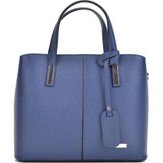 Sofia Cardoni Dámska kožená kabelka SC1180 Blu Jeans dámské modrá