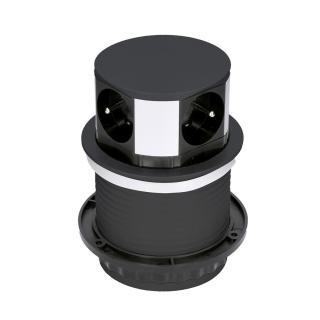 Solight predlžovací přívod, 4 z., 1,5 m PP100-B, černý