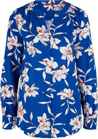 s.Oliver Dámska blúzka 14.002.11.2844.56A2 BLUE FLOWERS AOP 36 dámské