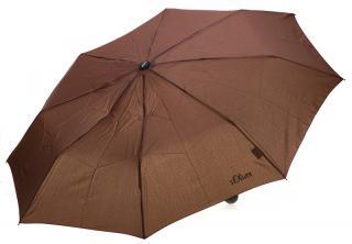 s.Oliver Dámsky skladací mechanický dáždnik Fruit Coctail UNI - 70801SO2302 Brown dámské