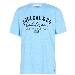 SoulCal Textured Flecked T Shirt pánské Other XXL