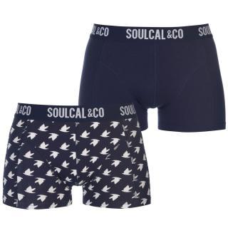 SoulCal Trunks Pack of 2 pánské modrá | šedá S