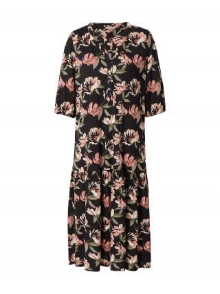 Soyaconcept Košeľové šaty FELICITY  čierna / rosé / olivová / biela / mätová dámské 34
