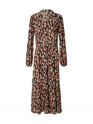 Soyaconcept Košeľové šaty TIFA 3  čierna / béžová / melónová dámské 36