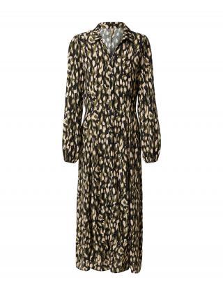 Soyaconcept Košeľové šaty TIFA 3  kaki / béžová / čierna dámské 38