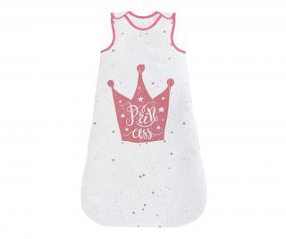 Spací vak pre deti Princess Pink 6-12 m. Biela 6-12 months