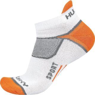 Sportovní ponožky HUSKY SPORT pánské biela   šedá   oranžová XL