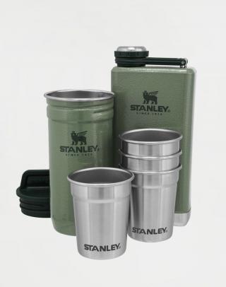 Stanley Dárkový set Adventure series placatka/butylka 250ml   panáky 4ks Green Zelená