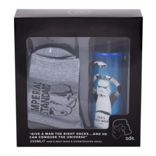 Star Wars Stormtrooper darčeková kazeta sprchovací gél 250 ml   ponožky pre deti