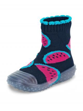 STERNTALER Ponožky  námornícka modrá / ružová / vodová 24