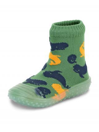 STERNTALER Ponožky  zelená / námornícka modrá / oranžová 22
