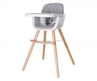 Stolička pre deti Grey Sivá & Striebristá