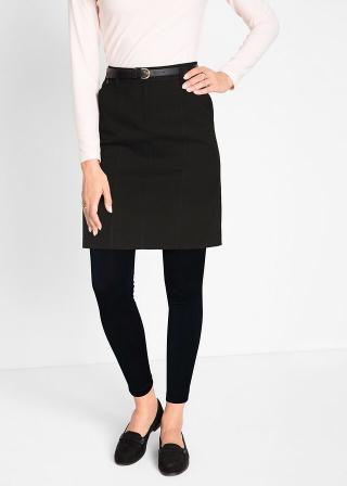Strečová sukňa s vreckami dámské čierna 36,38,40,42,44,46,48,50