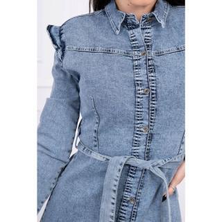Stretch denim dress with a flared bottom S/M-L/XL dámské Neurčeno S-M-L-XL