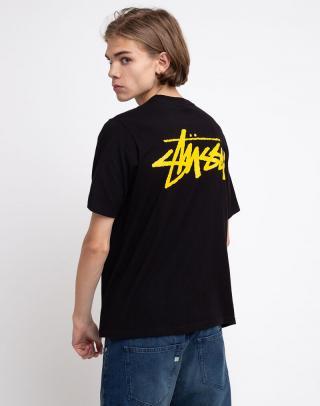 Stüssy Classic Stock Tee Black XS dámské Čierna XS