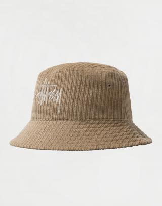 Stüssy Corduroy Big Basic Bucket Hat MAPLE S/M pánské Béžová S/M