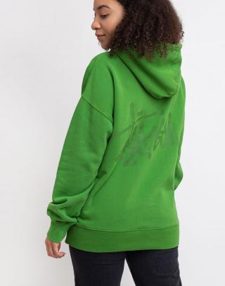 Stüssy Slant Fleece Hood Green S dámské Zelená S