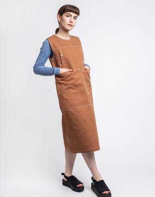 Stüssy Stasy Dress CARAMEL L dámské Oranžová L