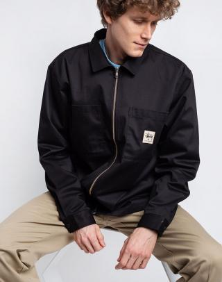 Stüssy Zip Up Work LS Shirt BLACK S pánské Čierna S