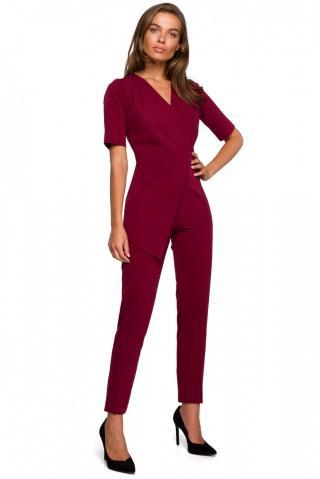 Stylove Womans Jumpsuit S241 Maroon dámské Red L