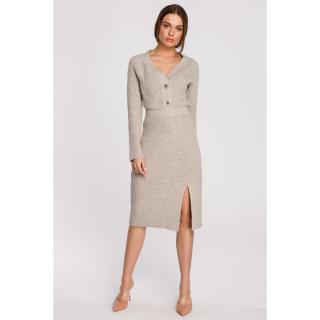 Stylove Womans Skirt S270 dámské Beige L