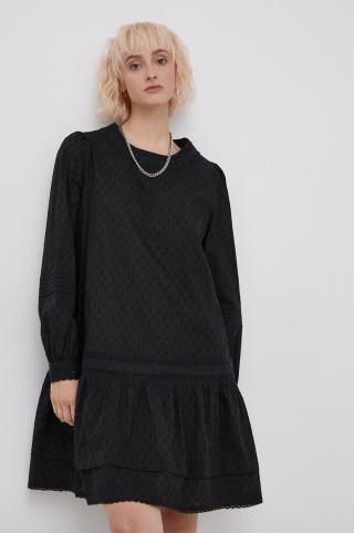 Superdry - Bavlnené šaty dámské čierna XS