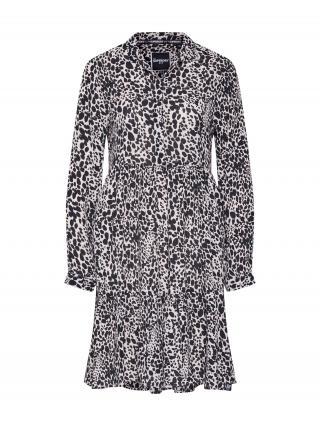 Superdry Košeľové šaty SCANDI  biela / čierna dámské 38