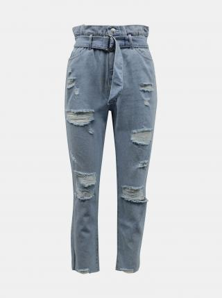 Svetlo modré slim fit džínsy s potrhaným efektom TALLY WEiJL - XXS dámské XXS