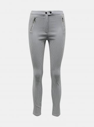 Svetlo šedé pruhované skinny fit nohavice TALLY WEiJL - XS dámské XS