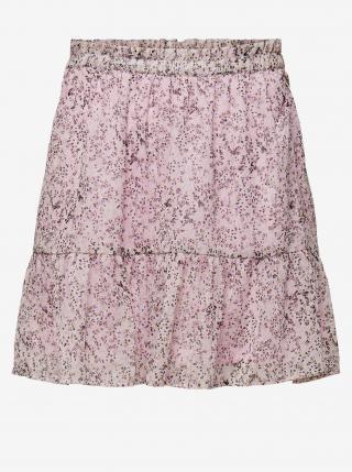 Svetlofialová vzorovaná sukňa Jacqueline de Yong Time dámské XS