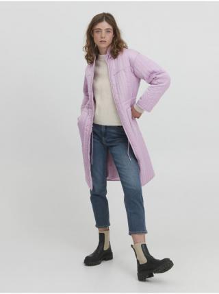 Svetlofialový dámsky zimný kabát ICHI dámské svetlofialová XL