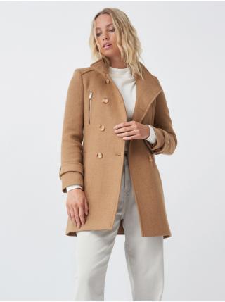 Svetlohnedý dámsky kabát Salsa Jeans Casaco Fazenda Básica dámské svetlohnedá S