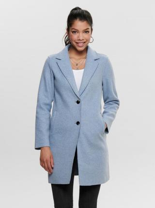Svetlomodrý kabát ONLY Carrie dámské svetlomodrá M