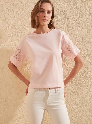 Svetloružové tričko Trendyol - L dámské ružová L