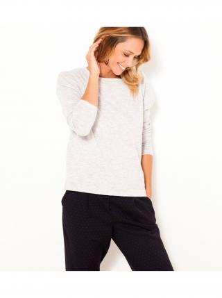 Svetlošedý sveter s prímesou vlny CAMAIEU dámské svetlosivá XL