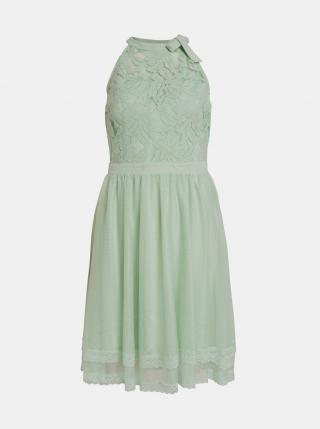 Svetlozelené krajkové šaty VILA Zinna dámské svetlozelená XL
