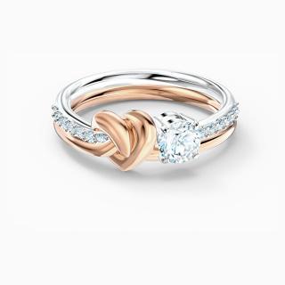 Swarovski Luxusné bicolor prsteň s kryštálmi 5535403 58 mm dámské