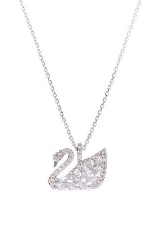 Swarovski Luxusné náhrdelník s labuťou SWAN 5296469