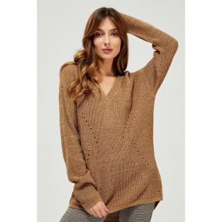 Sweater with a longer back - beige dámské Other S