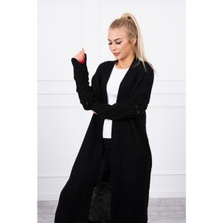Sweater with bubbles on the sleeve black dámské Neurčeno One size