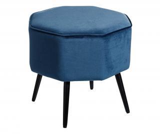 Taburetka Karen Octagon Blue Modrá
