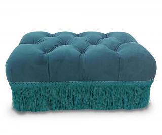 Taburetka Orly Rectangular Blue Modrá