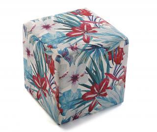 Taburetka Tropical Flowers Pestrofarebná