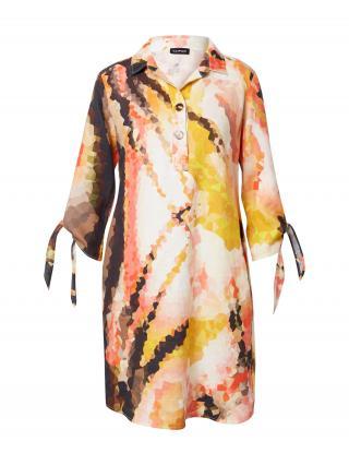 TAIFUN Košeľové šaty  zmiešané farby / oranžová dámské 36