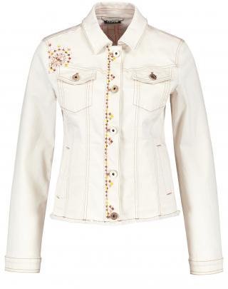 TAIFUN Prechodná bunda  biely denim / žltá / svetloružová / karamelová dámské XS