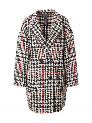 TAIFUN Prechodný kabát  čierna / biela / ohnivo červená dámské M