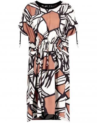 TAIFUN Šaty  biela / svetlohnedá / tmavohnedá dámské 34